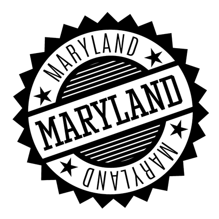 Maryland black and white badge. Geographic series.