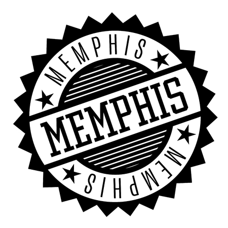 Memphis black and white badge. Geographic series.