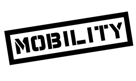 Mobility typographic stamp. Black and red stamp series. Foto de archivo - 112085748