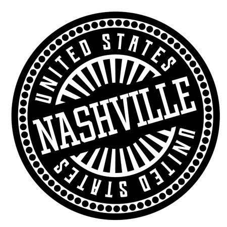 Nashville black and white badge. Geographic series.