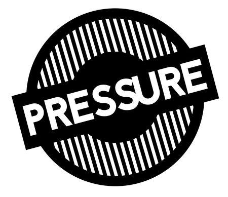 Pressure typographic stamp. Black circular stamp series. Banque d'images - 112085754