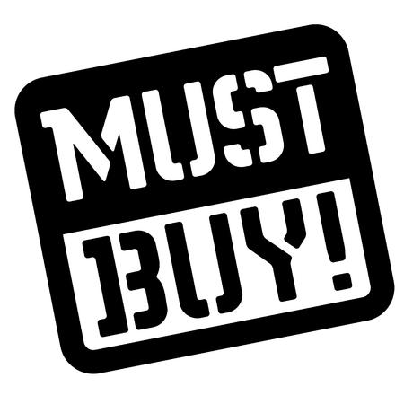 Must buy stencil stamp. Rectangular bold sign, label