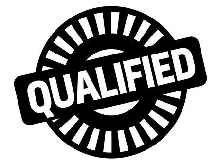 Qualified black stamp, sign, label Black badge series Vector Illustratie