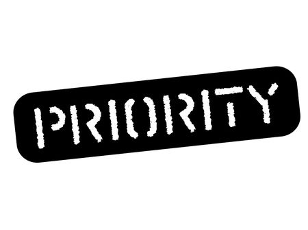 Priority black stamp, sign, label Black stencil series Illustration