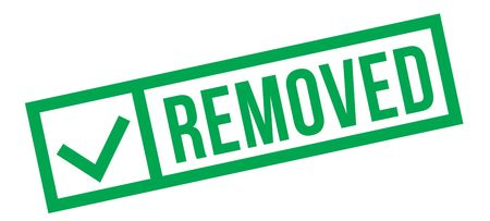 Removed typographic stamp, sign, label Green check series