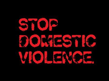 Stop Domestic Violence creative motivation quote design