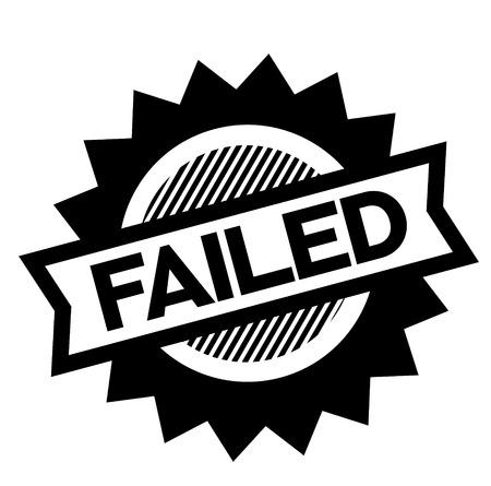 failed black stamp on white background. Sign, label, sticker Ilustrace