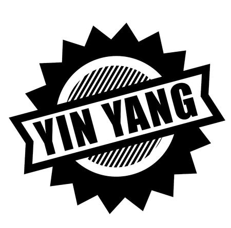 ying yang black stamp