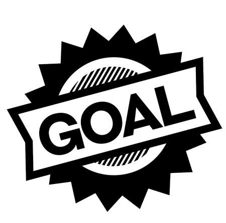 goal black stamp on white background. Sign, label, sticker