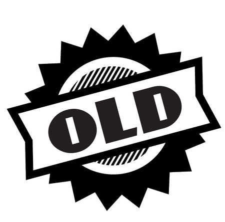 old black stamp on white background. Sign, label, sticker 向量圖像