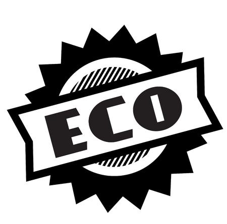 eco black stamp on white background. Sign, label, sticker
