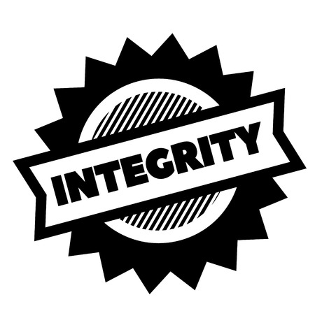 integrity black stamp on white background. Sign, label, sticker Иллюстрация