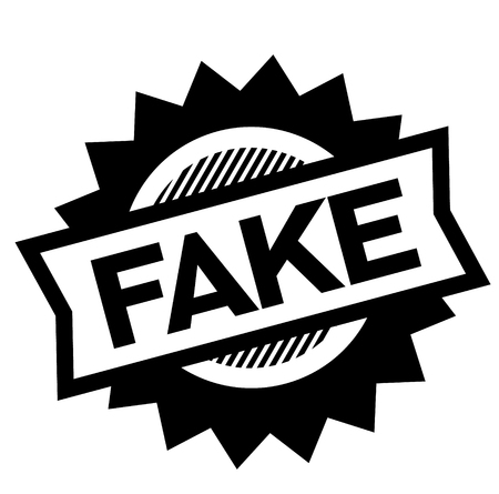 fake black stamp on white background. Sign, label, sticker 版權商用圖片 - 112051705