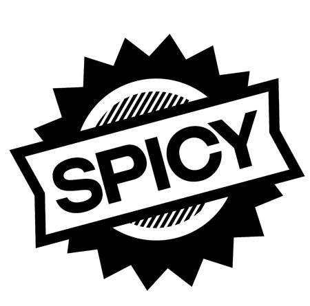 spicy black stamp on white background. Sign, label, sticker