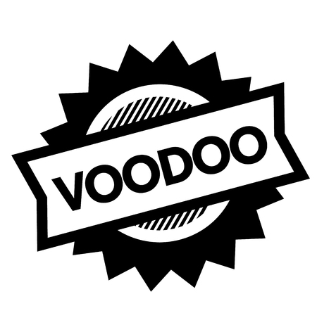 voodoo black stamp on white background. Sign, label, sticker