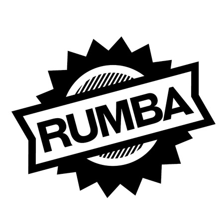 rumba black stamp on white background. Sign, label, sticker Stockfoto - 112051758