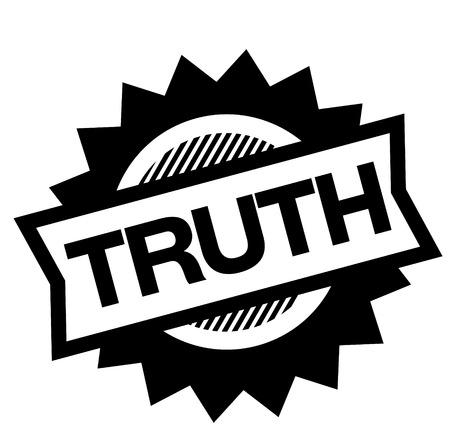 timbre de vérité noir sur fond blanc. Signe, étiquette, autocollant