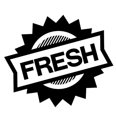 fresh black stamp on white background. Sign, label, sticker Ilustrace