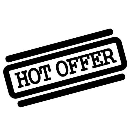 Hot Offer Black Stamp On White Background Stock Vector