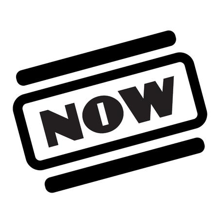 now black stamp on white background Фото со стока - 112051835