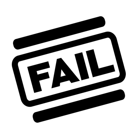 fail black stamp on white background Illustration