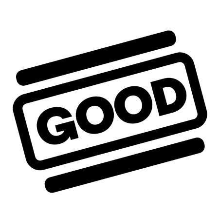 good black stamp on white background Illustration