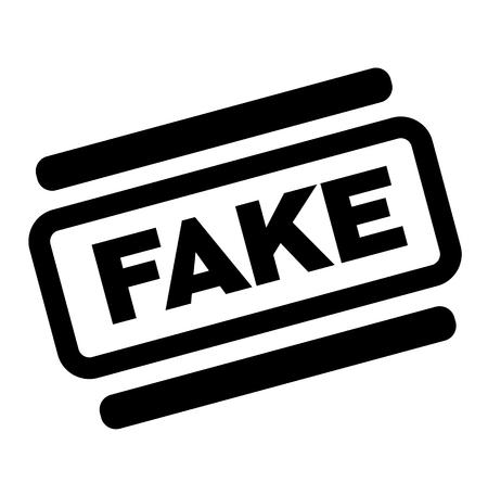 fake black stamp on white background 向量圖像