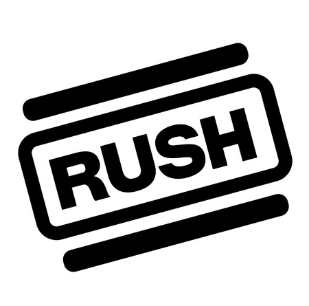 rush black stamp