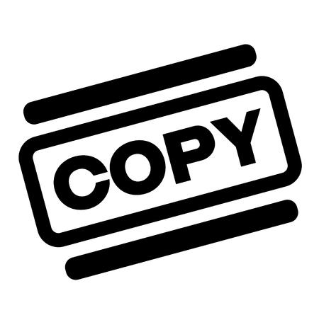 copy black stamp on white background Illustration
