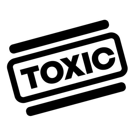 toxic black stamp on white background
