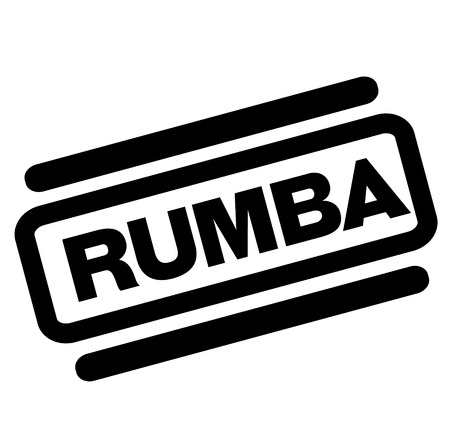 rumba black stamp on white background