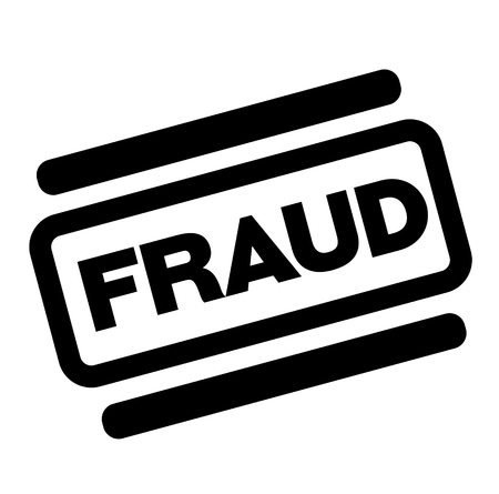 fraud black stamp on white background