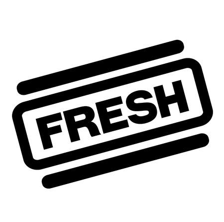 fresh black stamp on white background Archivio Fotografico - 112032827