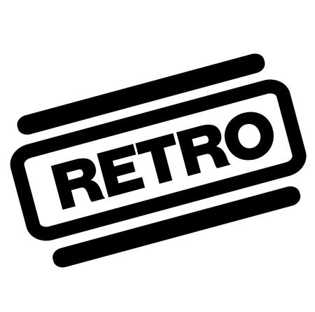 retro black stamp on white background Иллюстрация