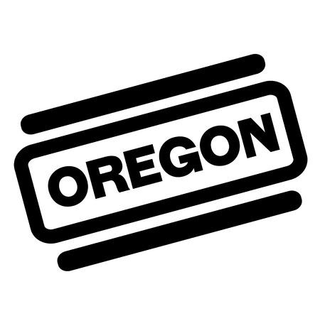 oregon black stamp on white background 写真素材 - 112032868