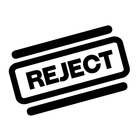 reject black stamp on white background