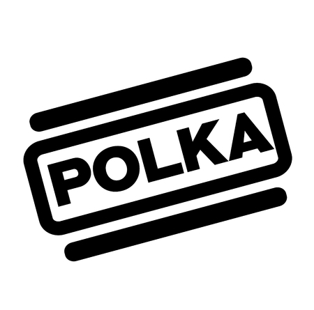 polka black stamp on white background