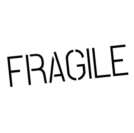 fragile stamp on white background Sign, label, sticker