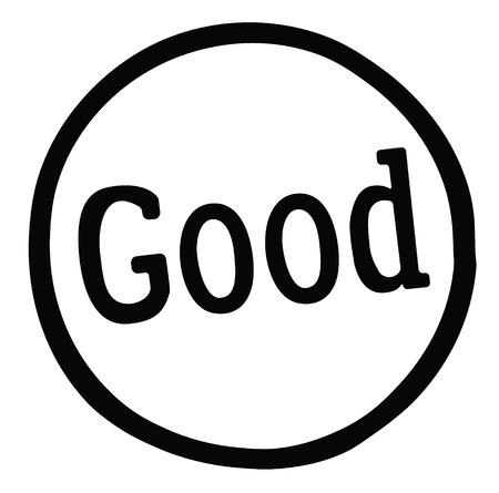 good stamp on white background Sign, label, sticker