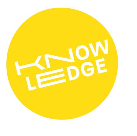 Knowledge label on white background Sign, label, sticker Stock Illustratie