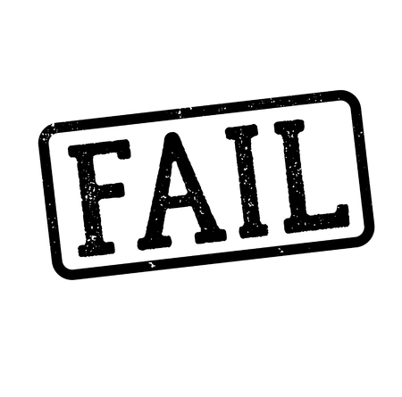 fail stamp on white background Sign, label, sticker Ilustrace