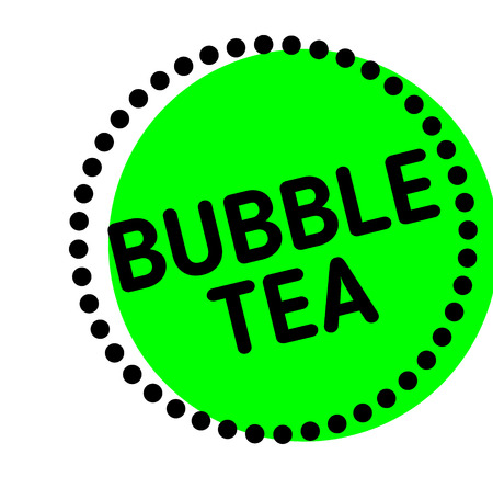 bubble tea label on white background Sign, label, sticker.