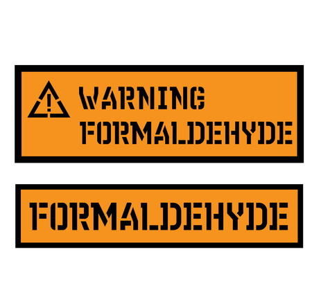 formaldehyde sign on white