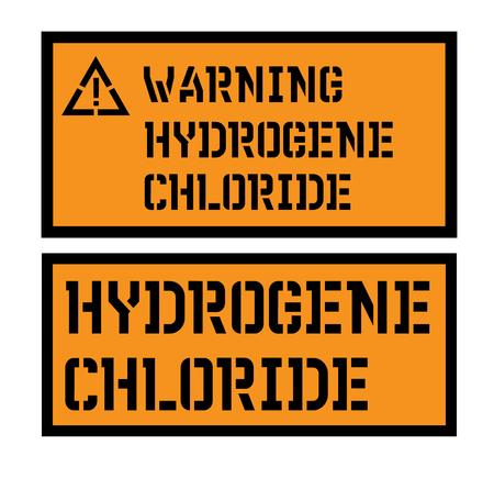 signo de cloruro de hidrogeno Ilustración de vector