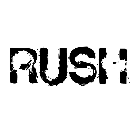 rush stamp on white background Sign, label, sticker