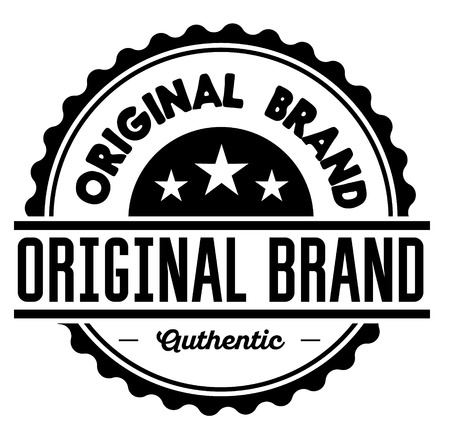 original brand label on white background Sign, label, sticker.