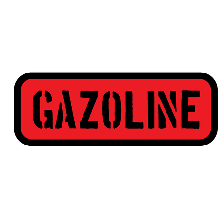gasoline sign on white background Sign, label, sticker