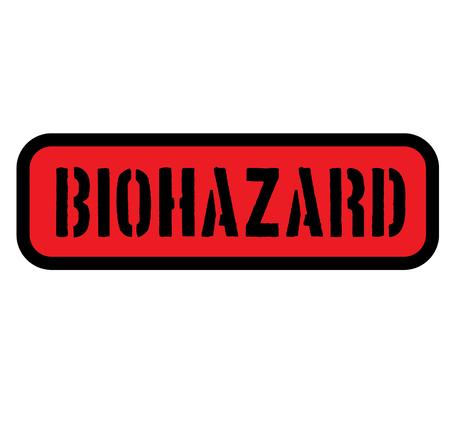 biohazard sign on white Stockfoto - 106596697
