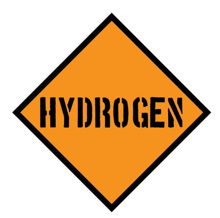 hydrogen sign on white background Sign, label, sticker