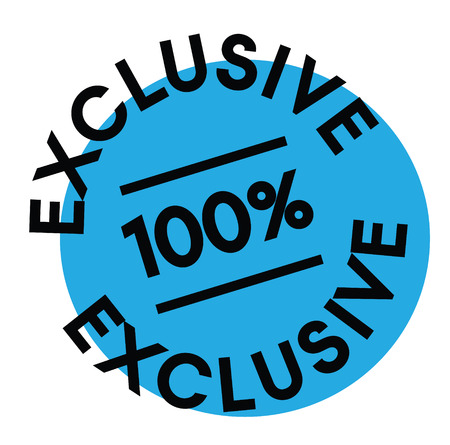 100 percent exclusive label on white background Sign, label, sticker. Çizim
